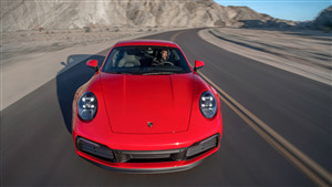2020 Porsche 911 Carrera 4K Red Car
